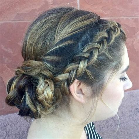 Wedding Hairstyles Braids Low Bun by 40 And Comfortable Braided Headband Hairstyles