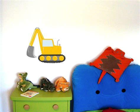 kinderzimmer deko bagger wandtattoo cooler bagger als kinderzimmer deko kiddikiste