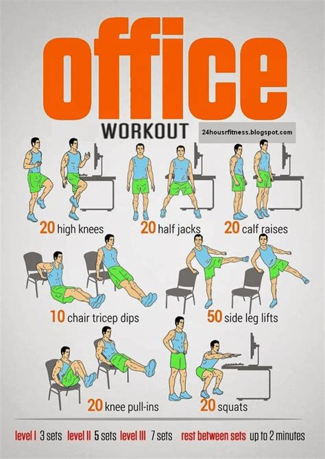 exercises in your chair at work office workouts offices and workout on
