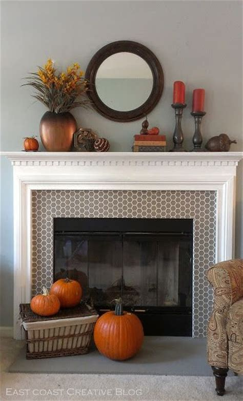 a riverstone fireplace sets the tone creative faux panels east coast creative traditional fall mantle diy