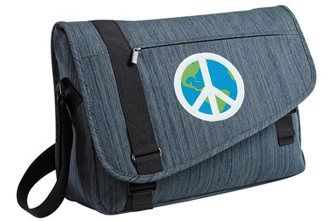 Jtote Makes Stylish Laptop Bags by Peace Sign Messenger Laptop Bag Stylish Computer Bag Well