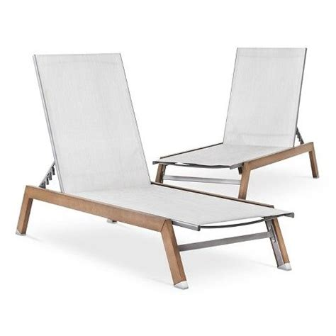 Wood Chaise Lounge Threshold Bryant 2 Faux Wood Patio Chaise Lounge Set 120 Target Dining Chairs