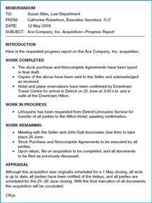 Memorandum Report Sample Com130 Progress Report Memo Format Part 2 Jpg Photo