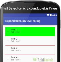 expandablelistview layout height expandablelistview with exle in android studio