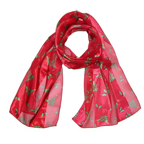 womens christmas tree holiday scarf by ctm 174 fashion