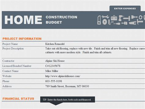 Ms Excel Home Construction Budget Template Formal Word Templates Residential Construction Budget Template Excel