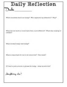 Student Learning Log Template by Reflective Teaching Free Journal Dust Teaching