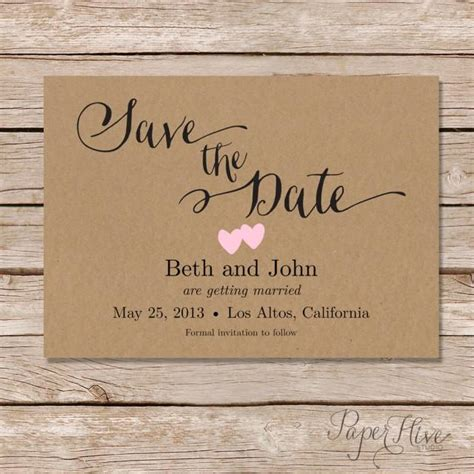 rustic card photography templates rustic save the date card printable save the date