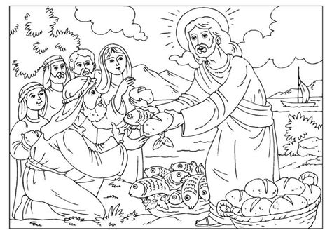 sunday school coloring pages fish coloring page loaves and fishes sunday school