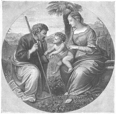 raphael books holy family with palm tree book illustrations