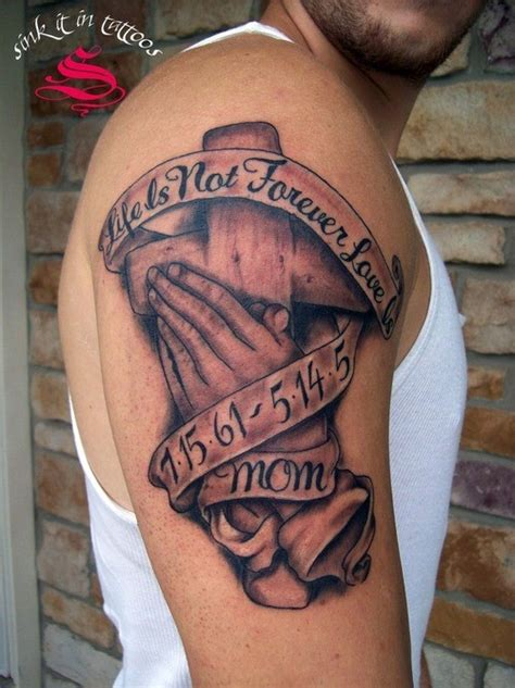 memorial tattoo quot life as not forever love mom quot tattoos pm