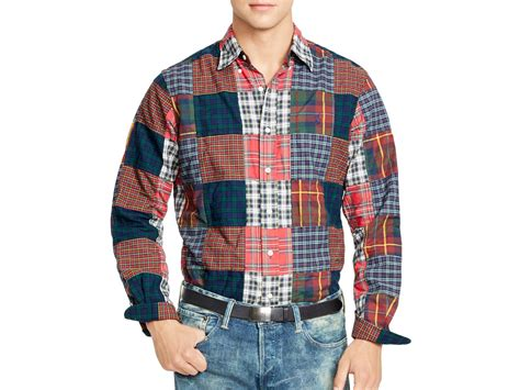 Patchwork Shirts - ralph polo patchwork oxford shirt for lyst