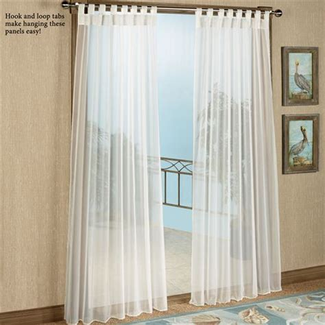 tab top drapery panels escape tab top sheer indoor outdoor curtain panels
