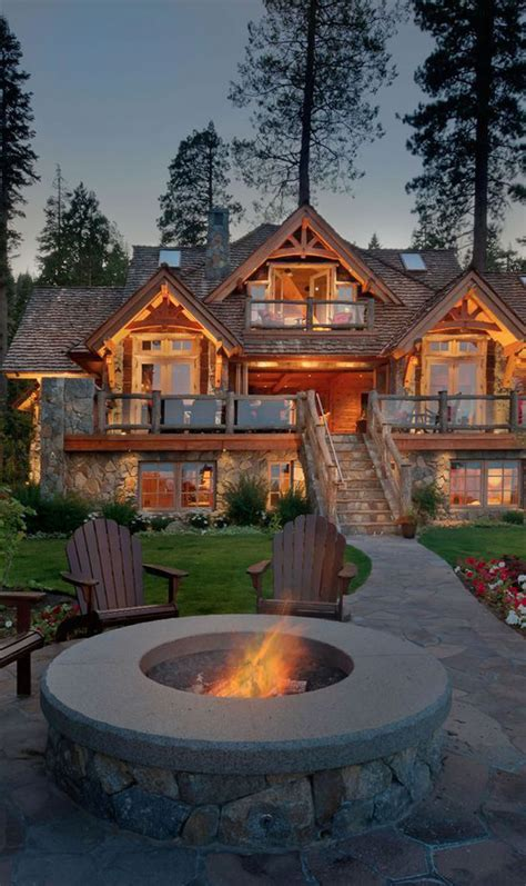 house with fireplace awesome mountain house with outdoor fireplace