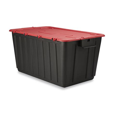 home design products 12 gallon flip top tote 12 gallon hinged lid storage tote shop your way online