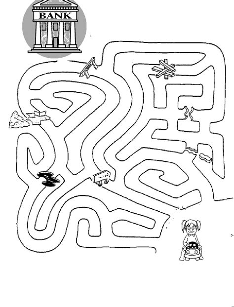 printable money maze money maze pages coloring pages