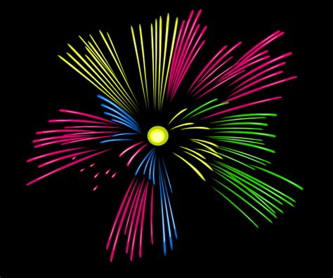 Mulit Colour Fireworks Clip Art At Clker Com Vector Clip Fireworks Animation For Powerpoint