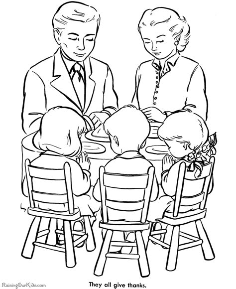 coloring pages of a family eating christmas dinner coloring pages