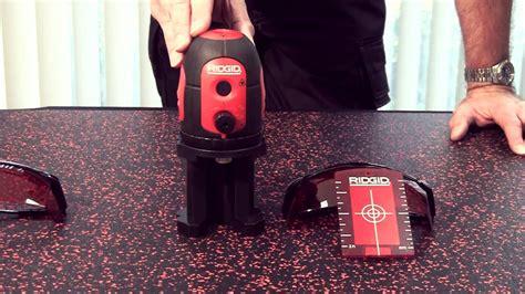ridgid laser leveling tools youtube