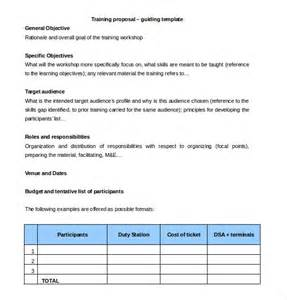 training proposal templates 32 free sle exle