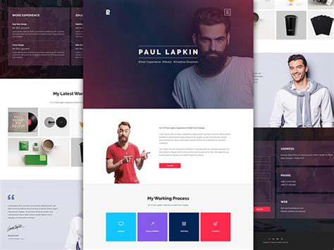 Personal Website Psd Template 2 Freebiesbug Personal Website Html Template