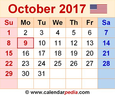 Calendar 2017 Excel Nz October 2017 Calendar Nz Weekly Calendar Template