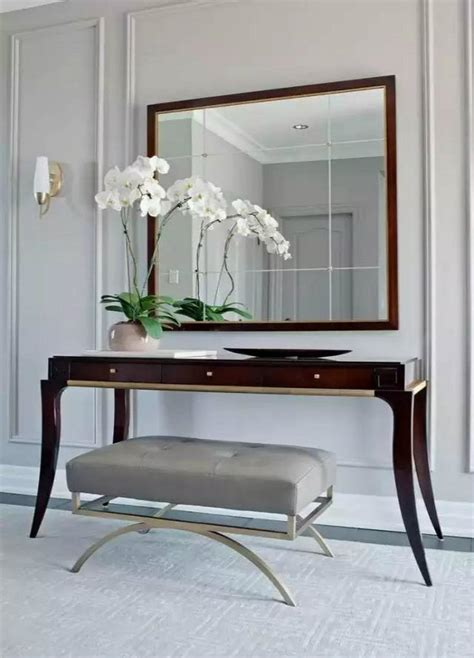 mirrored furniture for a modern interior design home modern foyer furniture modern foyer console tables