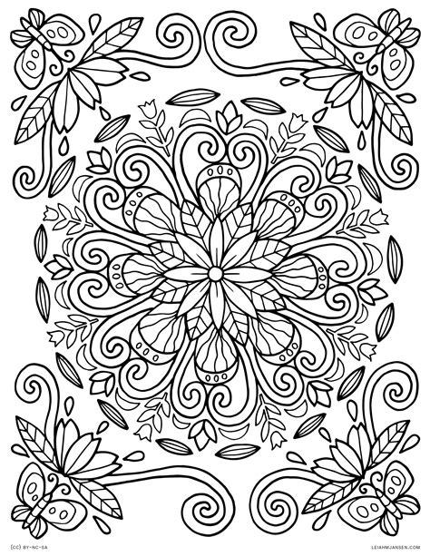 nature mandala coloring pages printable mandala coloring pages nature to print coloring for kids