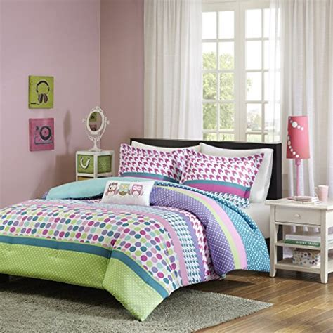 girls teal bedding girls teen kids modern comforter bedding set pink purple