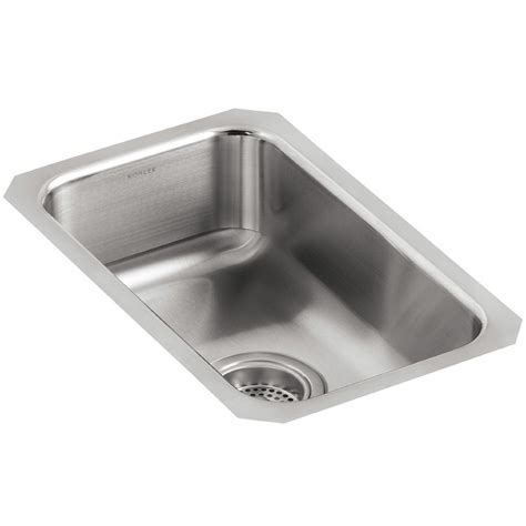 kohler icerock stainless steel mount kitchen bowl