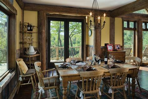 blue ridge dining room blue ridge georgia log home cabin by precisioncraft