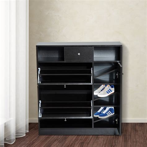 cheap closet organizers with drawers homcom shoe cabinet pull out door drawer organizer closet dark brown closet organizers