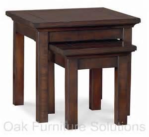 Oak Dining Room Sets With Hutch toledo dark lamp nest of tables oak furniture solutions