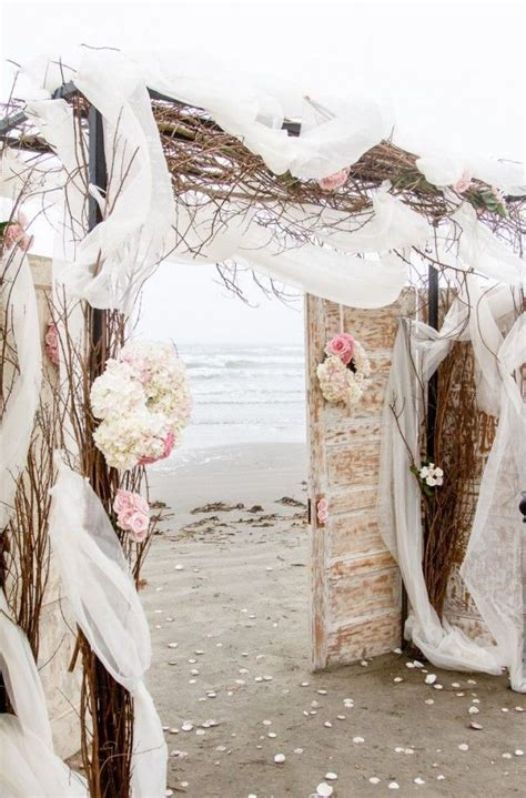 beach wedding arch decor, Romantic beach wedding arch