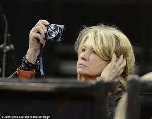 martha stewart hair 2014 martha stewart uses a camera to check for dreaded hat hair