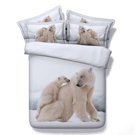 bear bed 3d polar bear bedding set duvet cover sets bed sheets