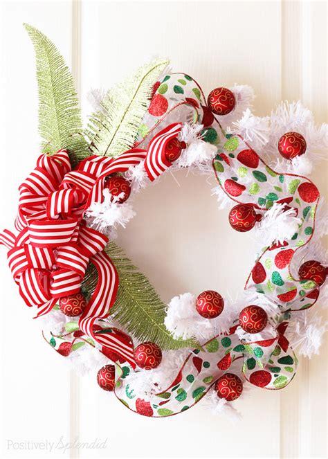 christmas items you tube wreaths diy ornament wreath