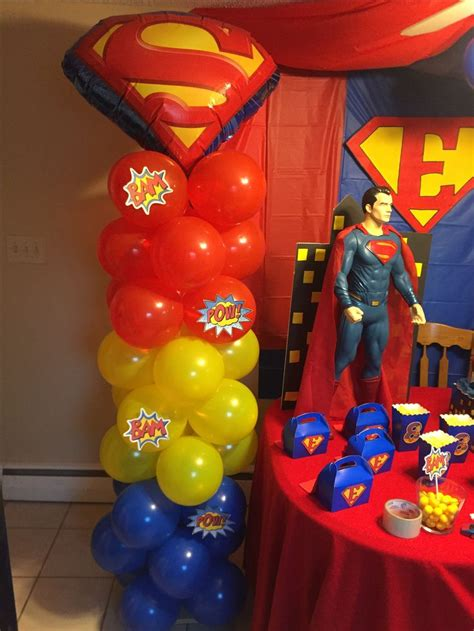 superman balloon decor superman birthday party