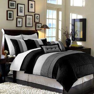 Black And White Bedroom Set by Black And White Comforter Sets