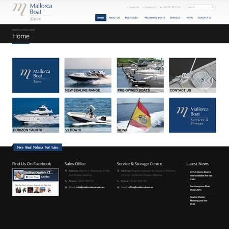 boat sales websites mallorca boat sales webvision website design development
