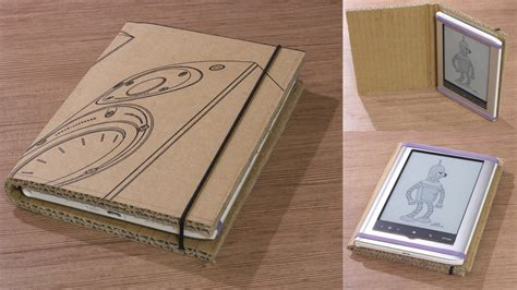 How To Make A Cd Cover Out Of Paper - cardboard cover for a book reader needed a protective
