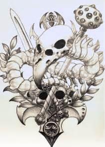 birdskull tattoo design sketch by pseudodog on deviantart