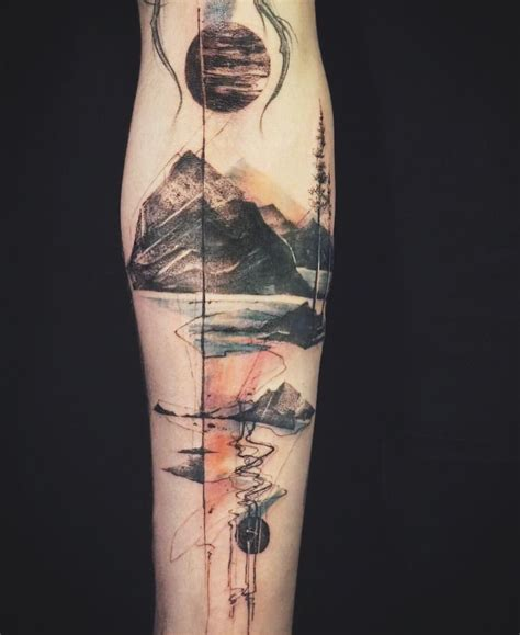 abstract tattoos designs abstract mountain nature by tattooer nadi on