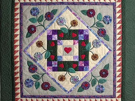 Patchwork Wall Hanging - patchwork garden quilt great meticulously made amish