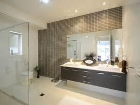 bathroom feature tiles ideas modern bathroom design with built in shelving using