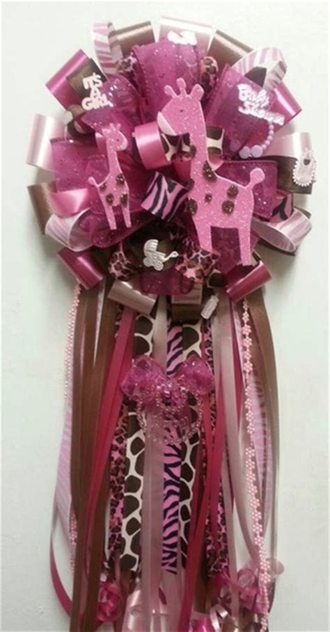 Safitri Pink baby shower theme corsages adrianas creations