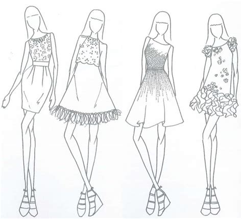 dress design template model fashion drawing search