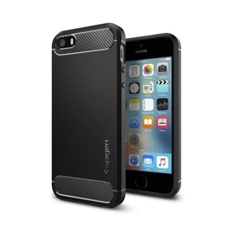spigen rugged armor durable cover for iphone se 5s 5 black hurtel pl gsm