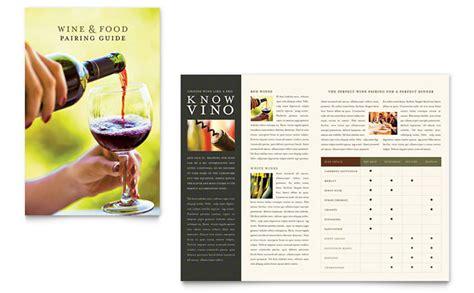 wine brochure template vineyard winery brochure template design