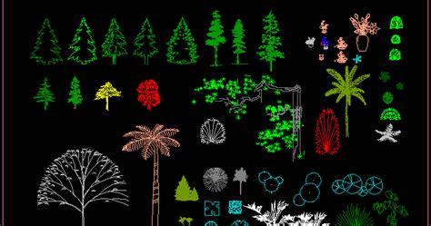 simbol pohon cad gambar blok cad pohon sederhana